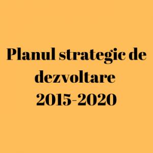 Planul strategic de dezvoltare 2015-2020